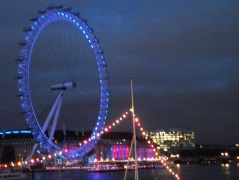 London Eye with Coloured Lights