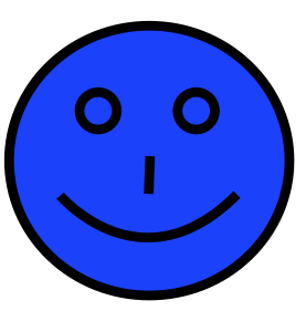 darker blue smiley