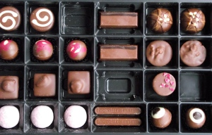 photo of full box of milk chocolate selection