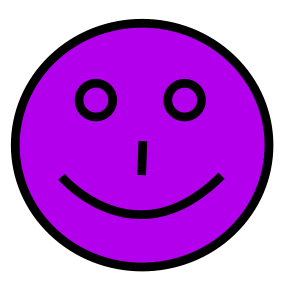 warm purple smiley